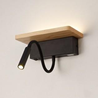 Wall light LED Drevo USB