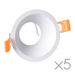 Pack 5 Recessed lights Confort Round (white)