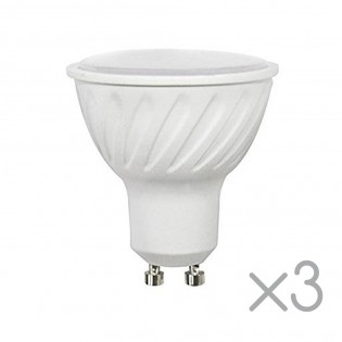 Pack 3 Bulbs LED GU10 6.2 W (Cold light)
