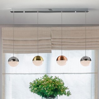 4-Light Kitchen Island Pendant Sphere (19.2W)