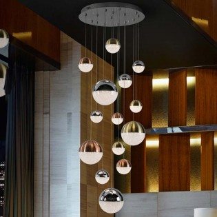14- Light LED Cluster Dimmable Pendant Sphere