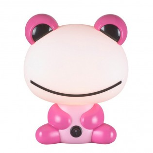 Children's Table Lamp Pink Toad