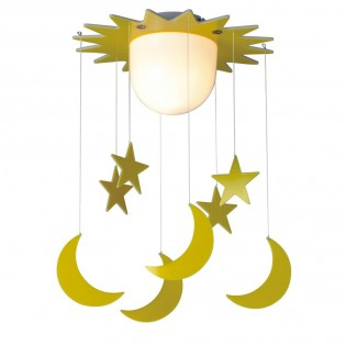 Flush light with pendants Stars and Moons