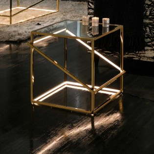 Golden Side Table LEd Moonlight (18W)