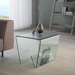 Modern Side Table Glass III (50x50)