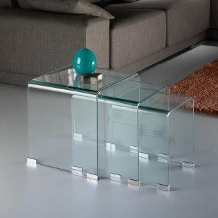 Nest of Tables Glass (3 Pieces)