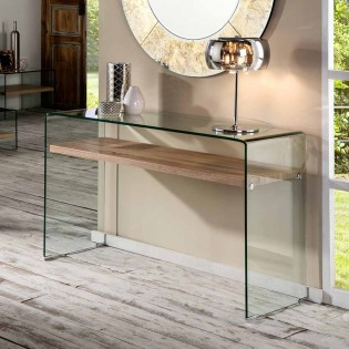 Glass and Wood Console Sonoma (125x40)