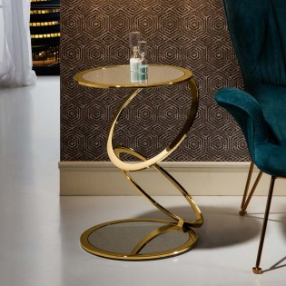 Golden Modern Side Table Aros