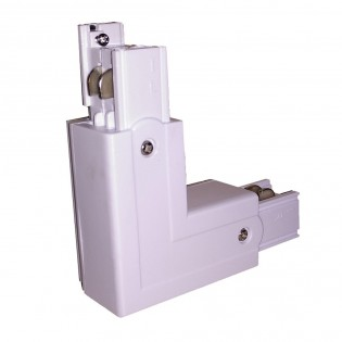 Corner connector for spotlight rail Simox