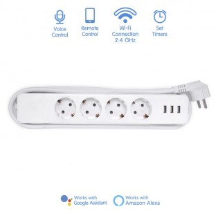 WiFi Smart Power Strip  (4 plugs + 3 USB)