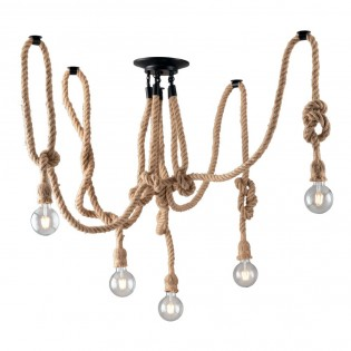 Hanging Lamp Rope (5 Lights)