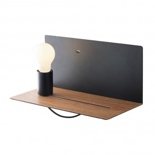 Wall light with shelf and USB Flash