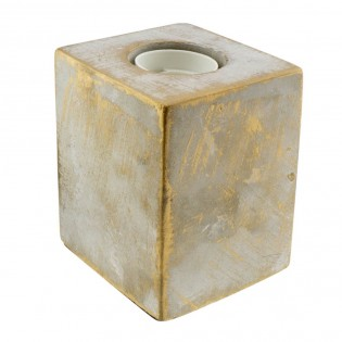 Base with lampholder E27 Cement (light grey)