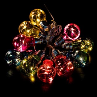 String lights Led 20 Light Bulbs colours (3 x AA)