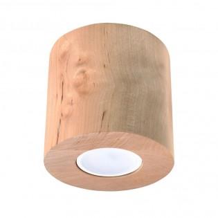 Flush Light Orbis Wood