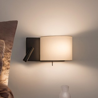 Wall Lamp with LED Reader Rum II (3W)