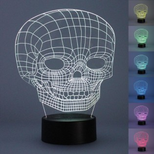 Night Light 3D LED Skull (2.5W)