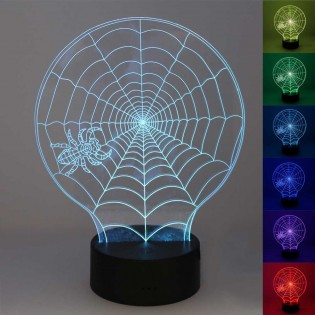 Night Light 3D LED Spiderweb (2.5W)