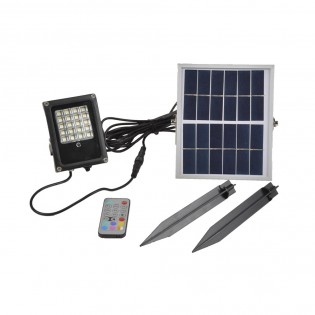 LED floodlight with solar panel Colorful (10W)