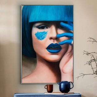 Acrylic painting Blue