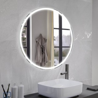 Mirror with LED light Mia Round