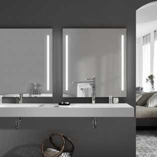 Mirror with LED light Sam
