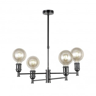Modern chandelier Miyako Grafito (4 lights)