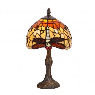 Lámpara de mesa Belle Amber cristal Tiffany II