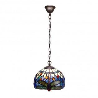 Lámpara de techo Belle Epoque cristal Tiffany