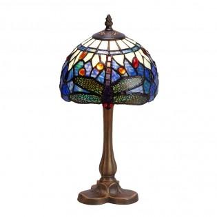 Lámpara de mesa Belle Epoque con cristal Tiffany