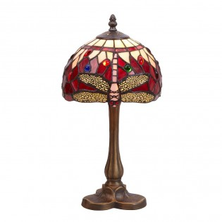 Lámpara de mesa Tiffany Belle Rouge
