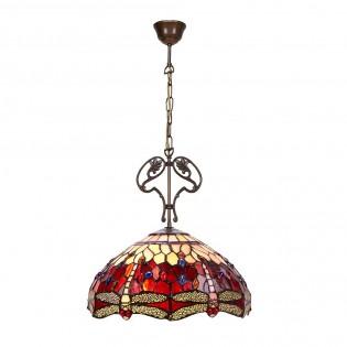 Lámpara de techo Belle Rougue cristal Tiffany