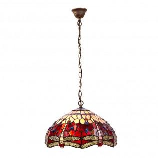 Lámpara colgante Belle Rougue cristal Tiffany II