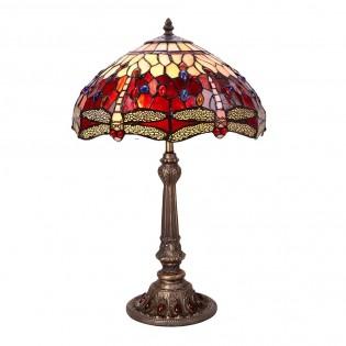 Lámpara de mesa Tiffany Belle Rouge II