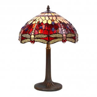 Lámpara de sobremesa Tiffany Belle Rouge