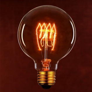 Light Bulb filament Globe 125 mm.