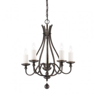 Rustic Chandelier Alsace (5 lights)