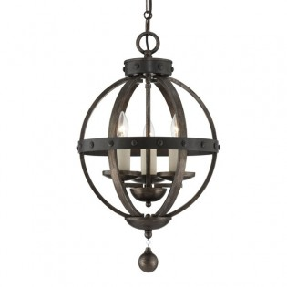Rustic Pendant light Alsace (3 lights)