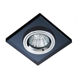 Kit Recessed light LUXOR black glass