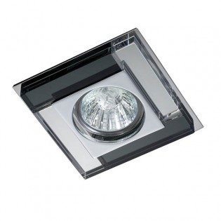 Kit Recessed light LUXOR black mirror