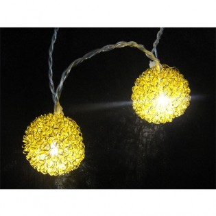 String lights 10 balls led gold