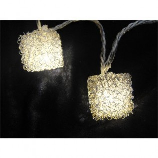 String lights 10 cubes led silver